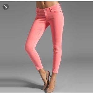 AG The Legging Ankle Neon Pink Skinny Jeans